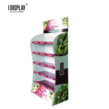 POP Advertising Cardboard Display Store Snack Corrugated stand Rack with Five <strong>Shelves</strong>