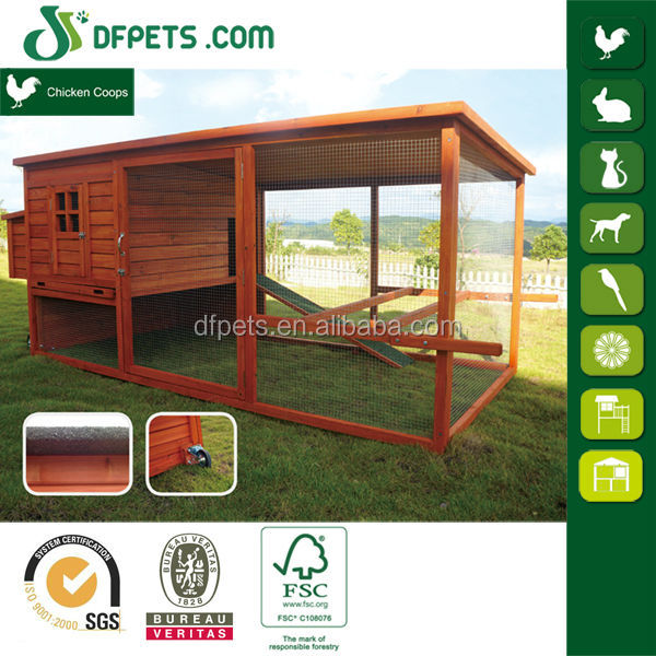 DFPETS DFC1304 Large Wooden Chicken Coop with Wheel