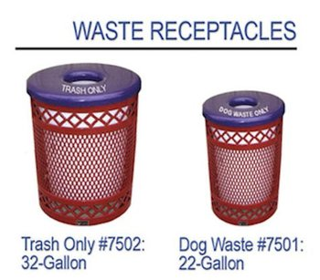 Dog Park Furnishings:Waste Receptacles