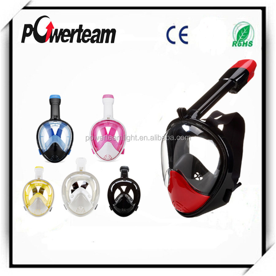 Snorkel Mask - Full Face Snorkeling and Diving Mask with 180 Panoramic Viewing - Longer Ventilation Pipe, Watertight, Anti Fog