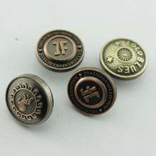 No Hole Shank Button, Custom Botones, Alloy Screw Metal Jean Button