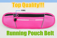 2015 Hot Sale! Outdoor Exercise Running Race Pouch Belt Pocket Fits Most Smart Phones with Two Secure Pockets