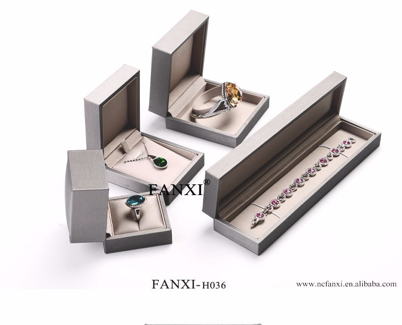 FANXI Christmas Wholesale Custom Logo Luxury Jewellery Display For Wedding Ring Pendant Bracelet Bangle Boxes Leather Gift Box