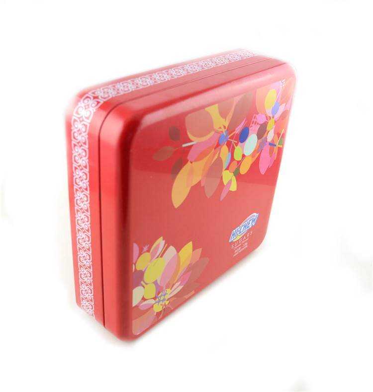Quad Square Metal Can Packing Tinplate Tin For Candy Box Wedding Favors