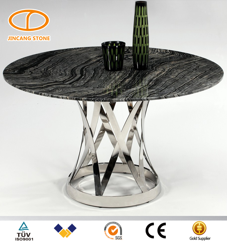 Top quality round table marble top