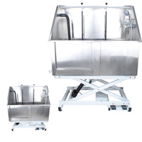 Stainless steel electric lifting bath-tub,dog bath-tub /H-107