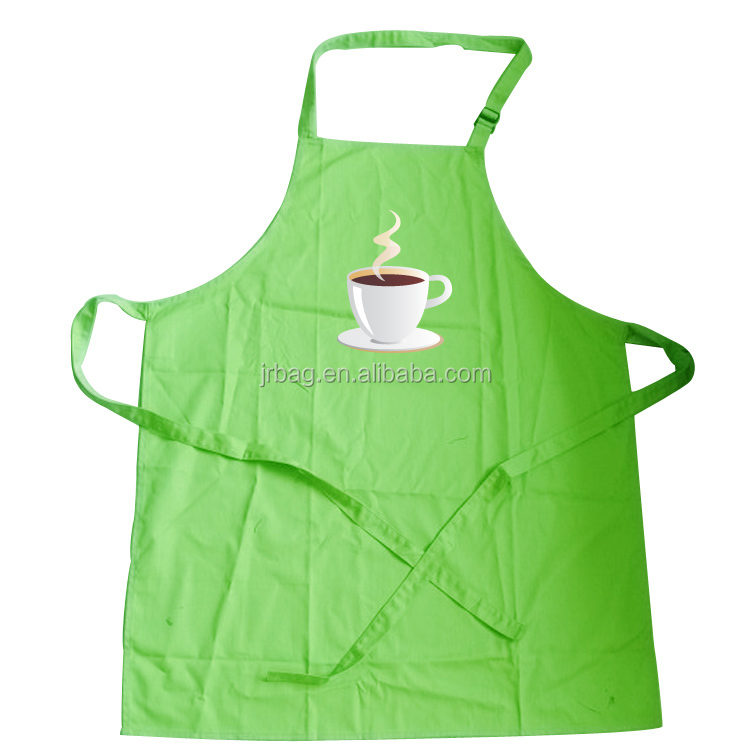 Professional Durable Cotton Canvas Chef Kitchen Apron with One Convenient Pocket for Women Cooking, Grill and Baking
