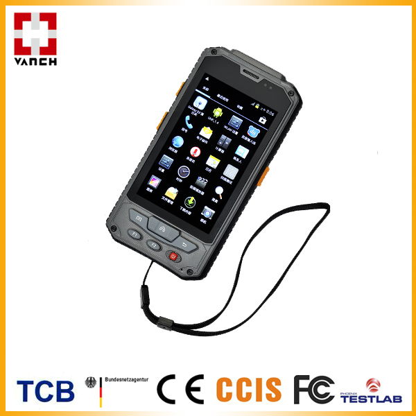 Andorid OS Handheld UHF RFID Reader,3G/WiFi/BT/GPS, Optional HF RFID/Barcode Supported