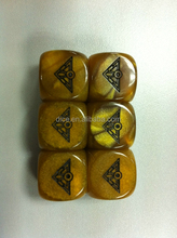 Triangle dice/Company custom carved dice (can be customized for any pattern)/Toy Game dice