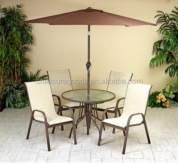Textoline metal sling garden furniture