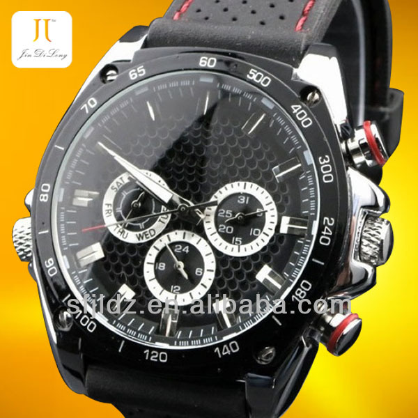 Brand Luxury Gent Men Black Automatic Mechanical Watch Stainless steel watch