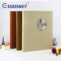 GuanMei Fabric Cover 315X415MM Wedding Photo Album With Post Bound Self Adhesive 20 White Sheets