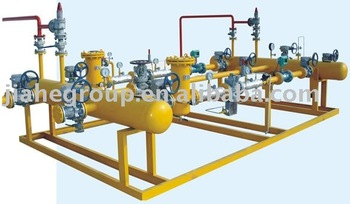 Skid-mounted natural gas regulating and metering station