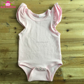 Wholesale Baby Girl Clothes Romper Kids Flutter Sleeve Bodysuit Cotton Wing Ruffled Soft Romper Baby Cotton Onesie