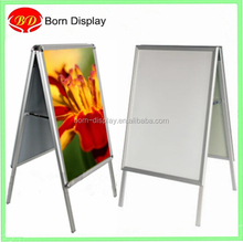 Foldable outdoor sign A1 poster double A board snap frame stand with header