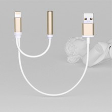 2 in 1 Lightningg Adapter for iPhone 7, Charger and 3.5mm light up headphone double Jack Cable audio Adapter for iPhone 7 7 Plus