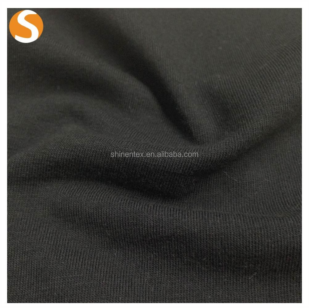 manufactory of Plain dayed cotton spandex knitted single jersey fabric