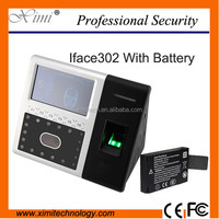 Face recognition time attendance TCP/IP USB communication iface302 face and fingerprint time attendance and access control