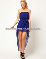 2014 Sexy dress women,short davanti and long dress behind