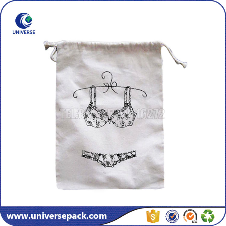 High Quality Custom Cotton Wash Bags With Drawstring