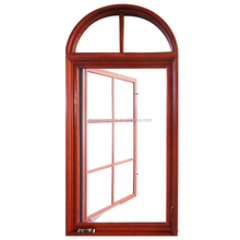 America NAMI/AAMA Certified Crank Out Casement Window with Fan Light Arched Top Transom Lite Casement Windows with Grids