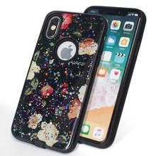 Mobile Cell Phone TPU PC Cases For Huawei Honor 9 Youth Edition, Glitter Powder Epoxy Painted Shiny Back Cover Case