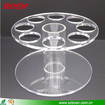 8 slot clear acrylic ice cream cone holder plexiglass chocolate food display stand