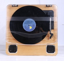 Modern electric gramophone record player with usb bluetooth