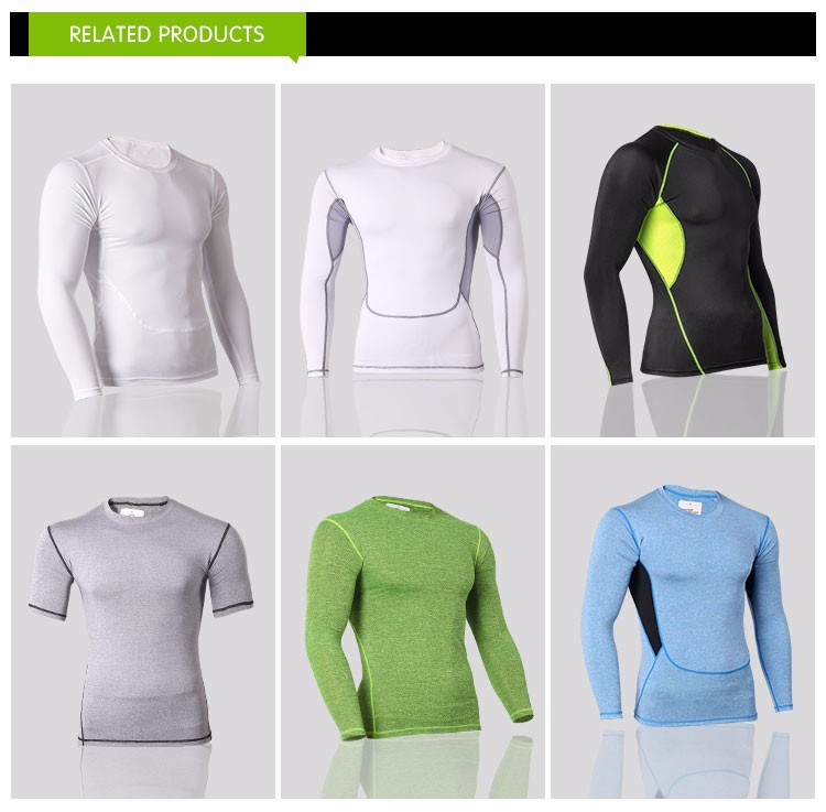 High-elastic colorful long sleeves sports tights