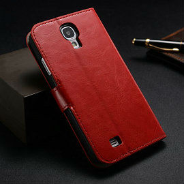 Wholesale mobile phone casing high quality retro stand walelt flip leather case for samsung galaxy s4 i9500