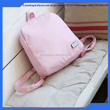 Pink Backpack Cheap Wholesale Simple canvas Backpack Girls Leisure School bags