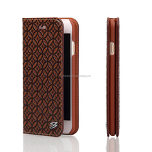 New copper pattern genuine leather flip case for iphone 6s 4.7inch