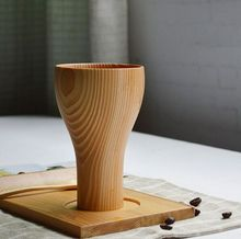 Newstyle wood goblet for red wine/cocktail/tall wooden cup for promotion