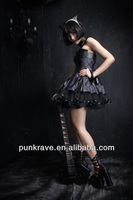 Q-162 korean fashion summer long dress from Punk Rave made in china