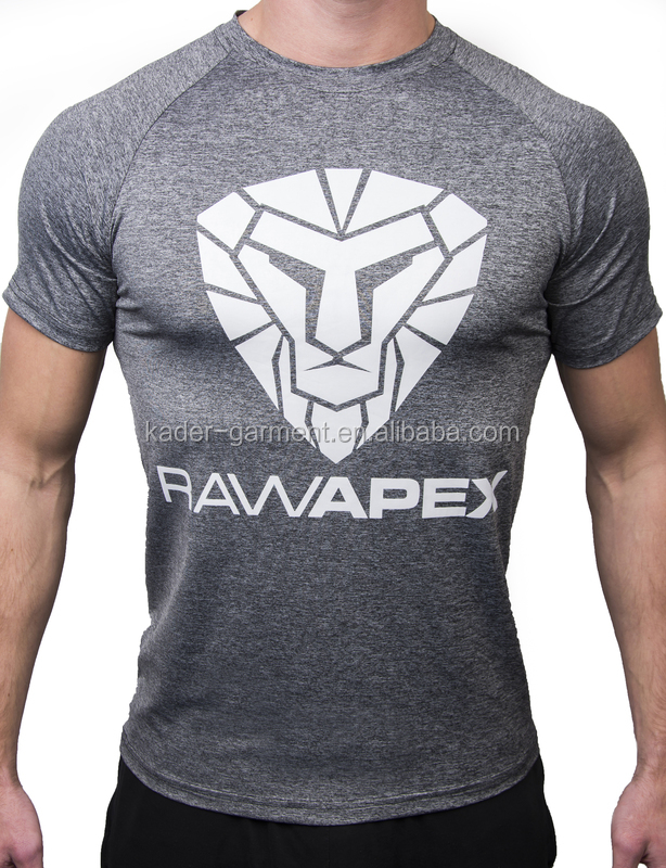 Custom design sports t shirts spandex muscle fit t shirt for Custom made sport shirts