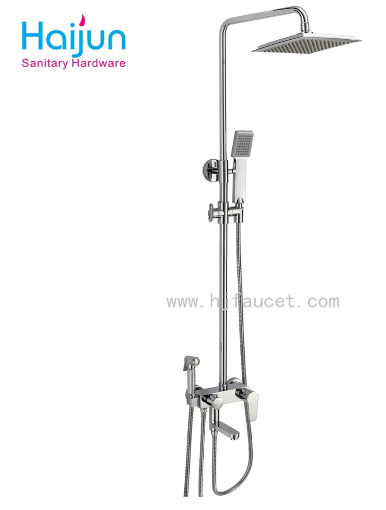 Luxury bathroom single handle brass high quality rain shower, bath shower mixer(86H40-CHR)