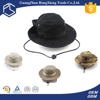 Summer wholesale balnk plain fishing bucket hat with string