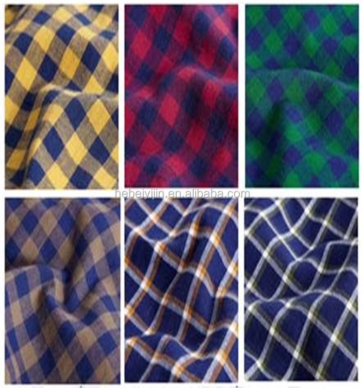 Multiple Colors Check design Flannel for Children shirt fabric pajamas fabric