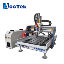 Hot sale desktop mini wood cnc router , China woodworking router cnc machinery AKG6090