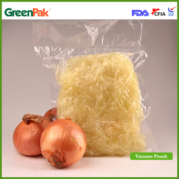 GreenPak Food Fresh Vacuum Pouch Flat Botom Pouches Co-extruded Flexible Barrier Film