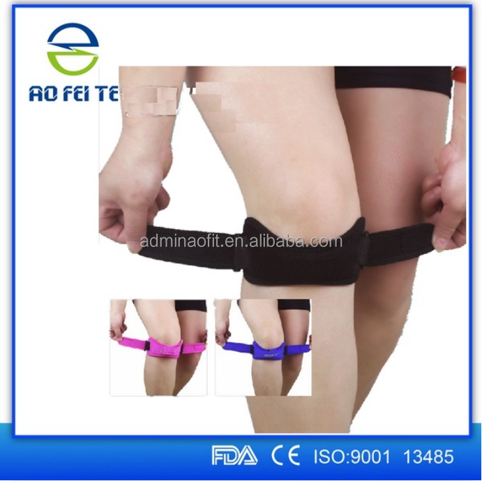 Knitting Knee Support/Patella Strap With Rubber Print, Available in Various Colors