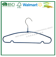 PVC Iron Metal Wire Hanger for clothes MB41C