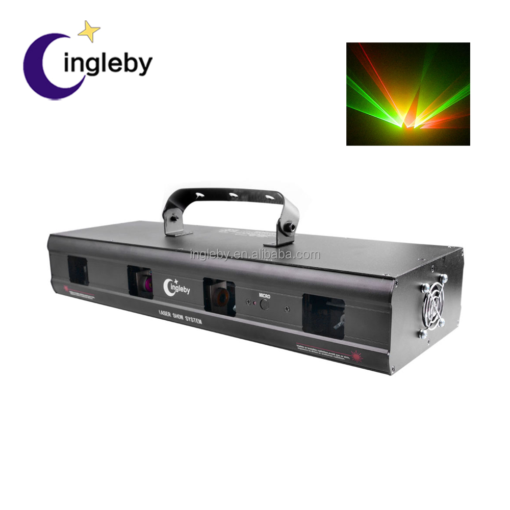 hot sale red green multi color 4 eyes stage laser light show system