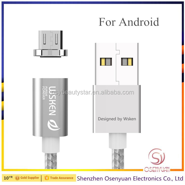 100% Original Magnetic Cable Data For Micro USB 2.4A Braided Quick Charging