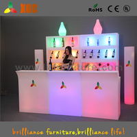 Hot selling glow led mobile bar/led bar counter/portable bar counter for club