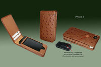 Classic Magnetic Ostrich Leather case