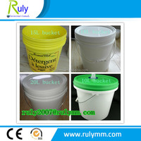 High intensity PP/HDPE plastic bucket with lid used for paint chemical products
