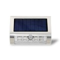 Newly release 9 LED smart Solar LED Motion Sensor security wall Light with LifePO battery