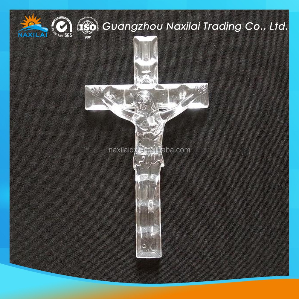 easily formed acrylic cnc decoration cross for christmas