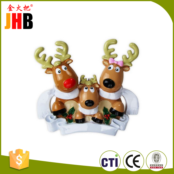 Resin Custom Reindeer Family Christmas Ornaments